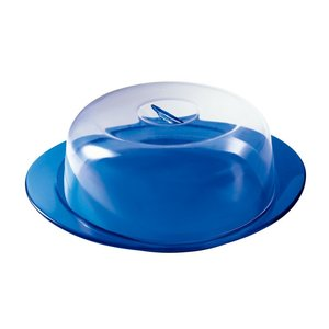 guzzini グッチーニ ケーキサービングセット  2292.0068ブルー 7-1063-0104 ケーキドームセット|shokki-pro