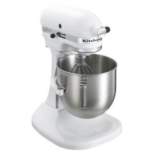 KitchenAid キッチンエイドミキサーKSM5 (ボールスライドタイプ)W白 7-1093-0401 卓上型ミキサー|shokki-pro