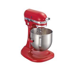 KitchenAid キッチンエイドミキサーKSM5 (ボールスライドタイプ)E赤 7-1093-0402 卓上型ミキサー|shokki-pro