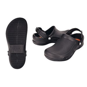 crocs クロックスシューズ ビストロプロクロッグ ブラック22cm 7-1370-0301 靴(調理場用)|shokki-pro