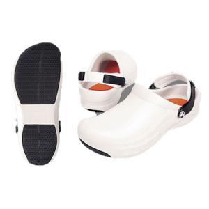 crocs クロックスシューズ ビストロプロクロッグ ホワイト27cm 7-1370-0406 靴(調理場用)|shokki-pro