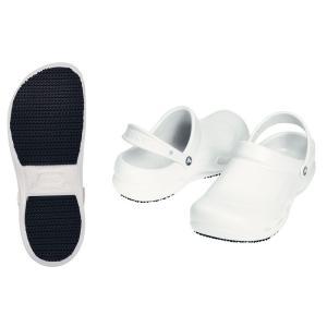 crocs クロックス シューズ ビストロ ホワイト 23cm 7-1370-0502 靴(調理場用)|shokki-pro