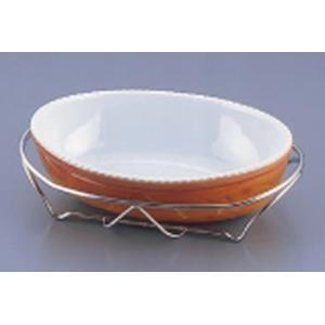 SAシャトレ 小判深グラタンセット  14-PC210-32茶 7-1539-1301 ビュッフェ用大皿(洋食器)|shokki-pro