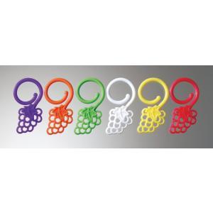 PRODYNE シリコン ステムウェア チャームセット WC-3-Gグレープクラスタ 7-1580-0502 グラスマーカー|shokki-pro