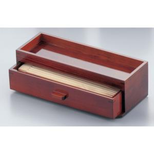 木製 カスター&箸箱 ブラウン 7-1893-0201 はし箱 (TKG17-1893)|shokki-pro