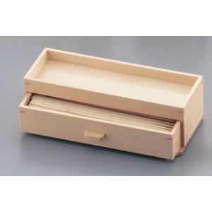 木製 カスター&箸箱 ナチュラル 7-1893-0301 はし箱 (TKG17-1893)|shokki-pro