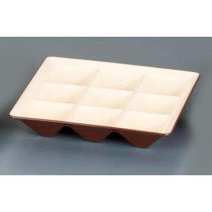カプセルボックス 固定仕切本体 海老茶(えびちゃ) 7-2066-0403 弁当容器 shokki-pro