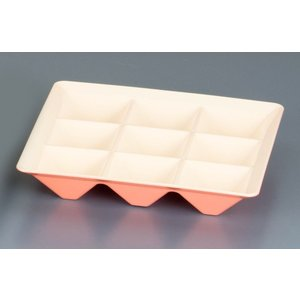 カプセルボックス 固定仕切本体 ピンクパール 7-2066-0404 弁当容器 shokki-pro
