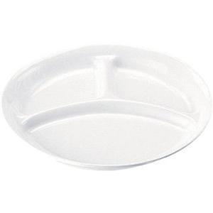 高強度磁器 ホワイト  WH-028仕切皿 7-2344-0701 給食用食器 shokki-pro
