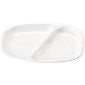 高強度磁器 ホワイト  WH-035角仕切皿 7-2344-0801 給食用食器 shokki-pro