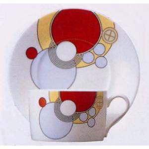 ティー・コーヒー碗皿◆フランク・ロイド・ライト デザイン テーブルウェア(ノリタケT97282/4614)|shokki