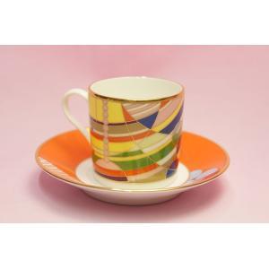 コーヒー碗皿◆マーチバルーンズ【フランク・ロイド・ライト デザイン テーブルウェア】(ノリタケ)|shokki|02