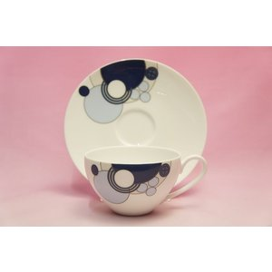 ティー・コーヒー碗皿◆インペリアルブルー【フランク・ロイド・ライト デザイン テーブルウェア】(ノリタケWT94989/1701)|shokki