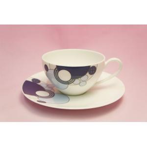 ティー・コーヒー碗皿◆インペリアルブルー【フランク・ロイド・ライト デザイン テーブルウェア】(ノリタケ)|shokki|02