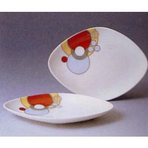 菱形ケーキ皿ペアセット◆フランク・ロイド・ライト デザイン テーブルウェア(ノリタケP97248/4614)|shokki