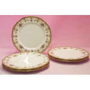 ノリタケ・ダイヤモンドコレクション #5539 ローズパレス ケーキ皿5枚セット shokki