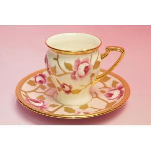 ノリタケ オマージュコレクション 桃色金彩薔薇文 碗皿|shokki
