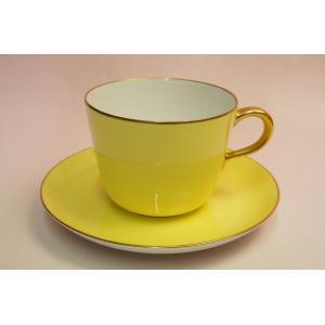 大倉陶園 モーニング碗皿(イエロー蒔き)|shokki