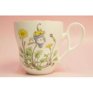 となりのトトロ マグカップ(花帽子)◆ノリタケボーンチャイナ・TT97855/4924-7|shokki