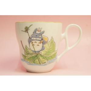 となりのトトロ マグカップ(葉舟)◆ノリタケボーンチャイナ・TT97855/4924-8|shokki