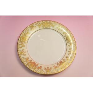 #175 WHITE&GOLD 21cmサラダ皿|shokki