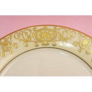 #175 WHITE&GOLD 21cmサラダ皿|shokki|02