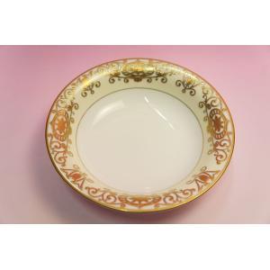 #175 WHITE&GOLD 19cmスープ皿|shokki