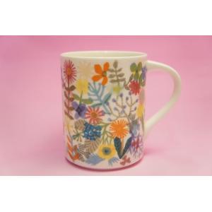 Flowers マグカップ(白)|shokki