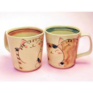 ほほえみ猫マグカップ|shokki