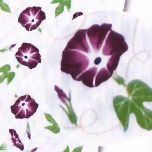てぬぐいたおる◆矢絣〔やがすり・矢がすり〕〔朝顔アサガオ〕|shokki|03