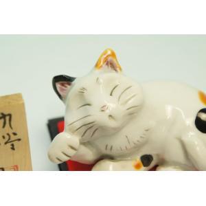 来福 のんびり招き猫(ミケ・三毛)|shokki|02