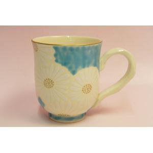 青地白菊 マグカップ|shokki