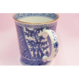 昭阿弥 染付松竹梅 マグカップ|shokki|02
