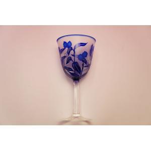 青つゆくさ ワイングラス shokki