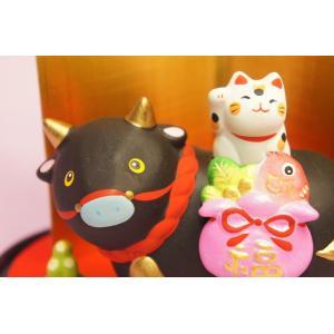 干支 丑 猫付き縁起飾り|shokki|02