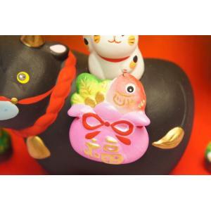 干支 丑 猫付き縁起飾り|shokki|04