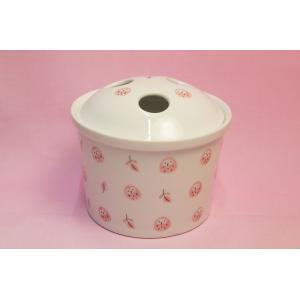 ピンクふくろう 抗菌入れ歯ポット(歯ブラシ立て)|shokki