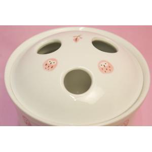 ピンクふくろう 抗菌入れ歯ポット(歯ブラシ立て)|shokki|03