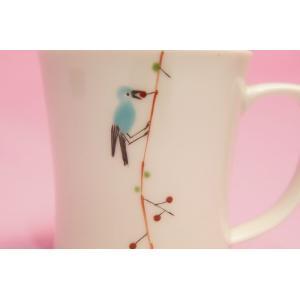つぐみ鳥 ミニマグカップ|shokki|02