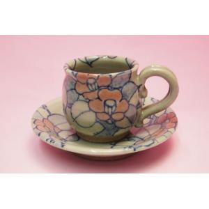 椿 コーヒー碗皿(黒田赫三郎)|shokki