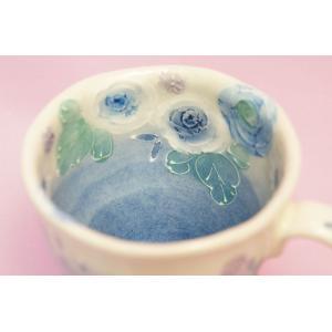 ゆずりは 藍彩花化粧 マグカップ shokki 03