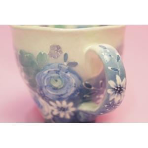 ゆずりは 藍彩花化粧 マグカップ shokki 04