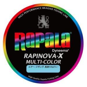 Rapala(ラパラ) PEライン ラピノヴァX マルチカラー 200m 0.4号 8.8lb 4本編み 10m毎に5色分け RXC200M04MC shokolaballet