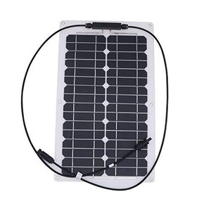 NUZAMAS 超薄型軽量の携帯用単結晶柔軟なソーラー パネル充電器 20 W|shokolaballet