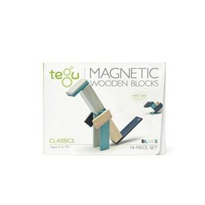 Tegu(テグ)積み木 マグネットブロック 14ピース/ブルース TYTU00302 shokolaballet