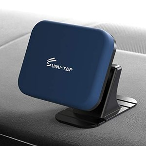 sumi-tap スマホホルダー 車 マグネット式 車用粘着式自由設置可能 カーナビホルダー ダッシュボード曲面粘着可能 携帯ホルダー 360度回転カ shokolaballet