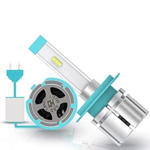 CARLITS H7 LEDヘッドライト電球オールインワン変換キット、10000ルーメンスーパーミニランプ1:1デザインCSPチップ6kホワイトプラグ shokolaballet