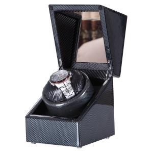 Winding Machine ワインディングマシン 腕時計 時計 ウォッチ ワインダー ケース (自動巻き上げ機・機械式) (炭素) shokolaballet