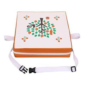 Sumnacon 食事 クッション こども 座布団 椅子用 クッション こども 高さ調節 チェアクッション 子供 ひも付き (可愛いツリー/オレンジ) shokolaballet