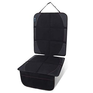 Rollibot チャイルドシート 保護マット 車 シートカバー 座席保護 シートプロテクター 滑り止め ブラック shokolaballet